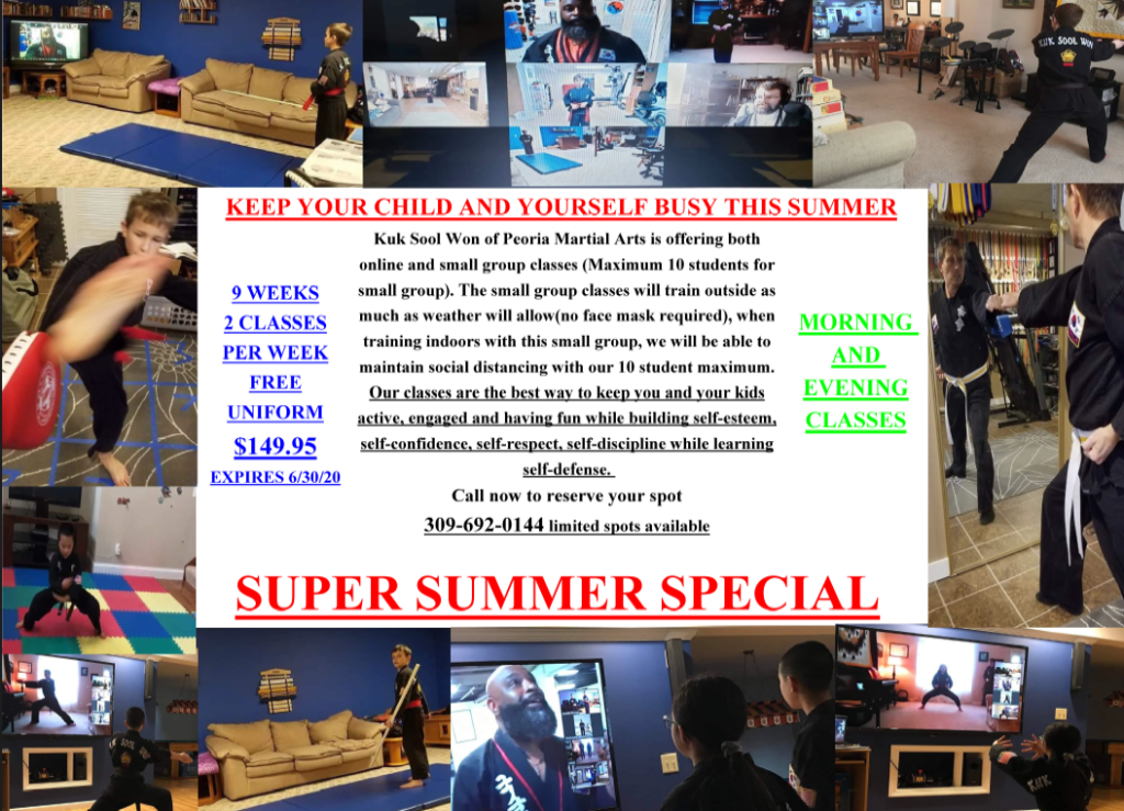 Super Summer Special - Keep busy this summer! Online and in-person classes available.